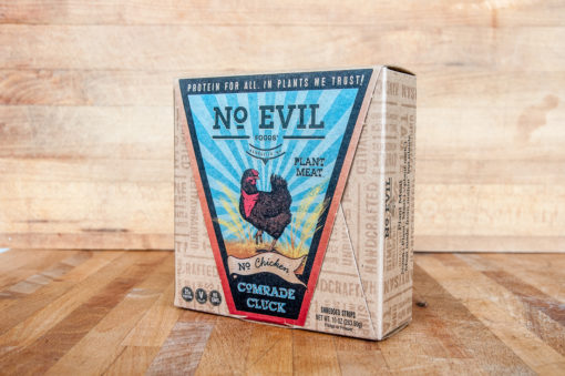 Sustainable packaging for plant-based meat Comrade Cluck
