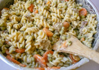 One Pot Creamy 'No Chicken' and Noodles