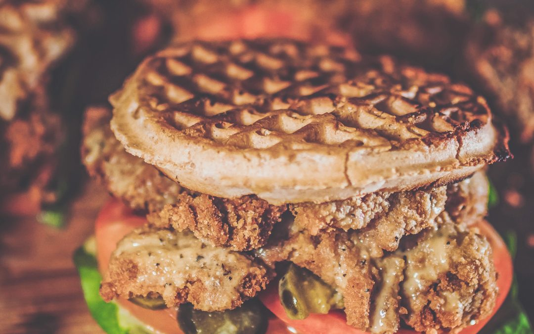 'No Chicken' and Waffle Sandwich
