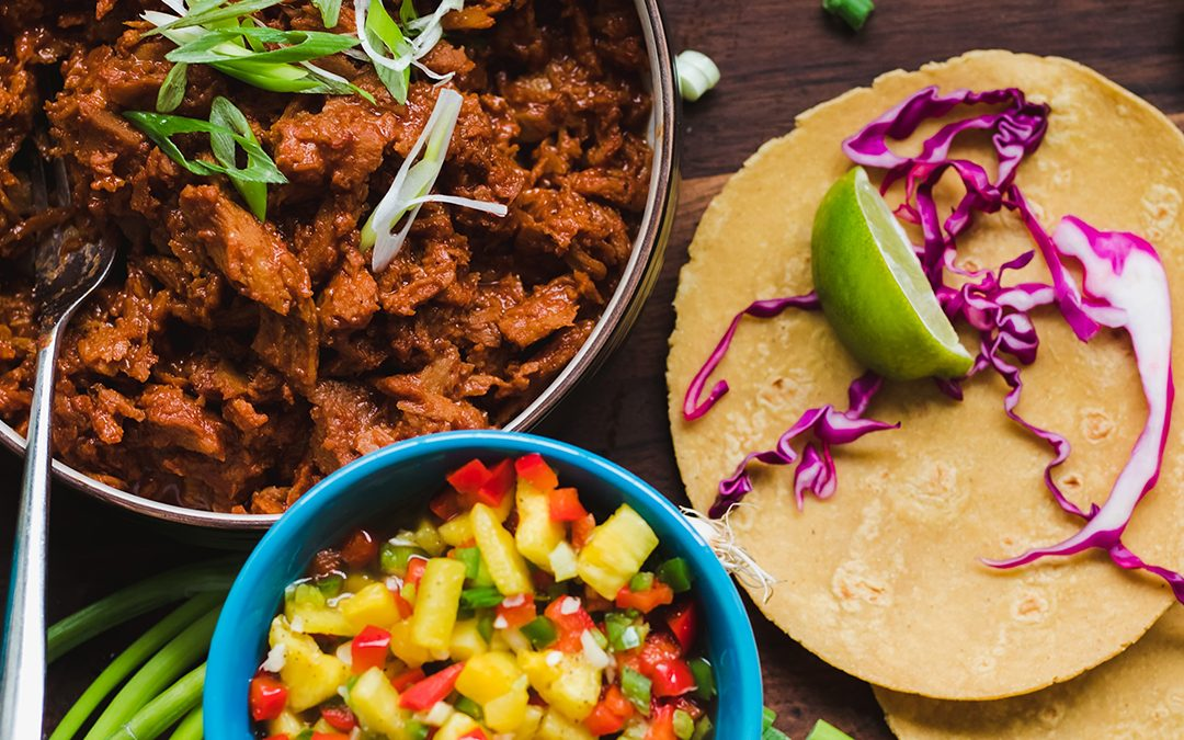 Pulled 'Pork' Tacos with Pineapple Salsa