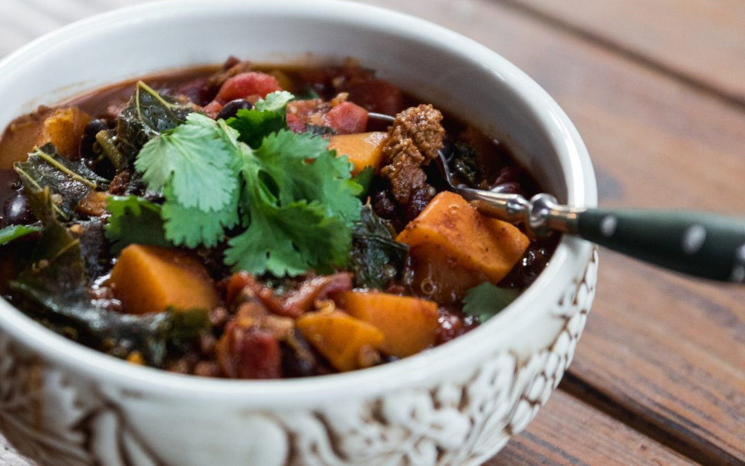 1 Pot Butternut Squash Quinoa Chili